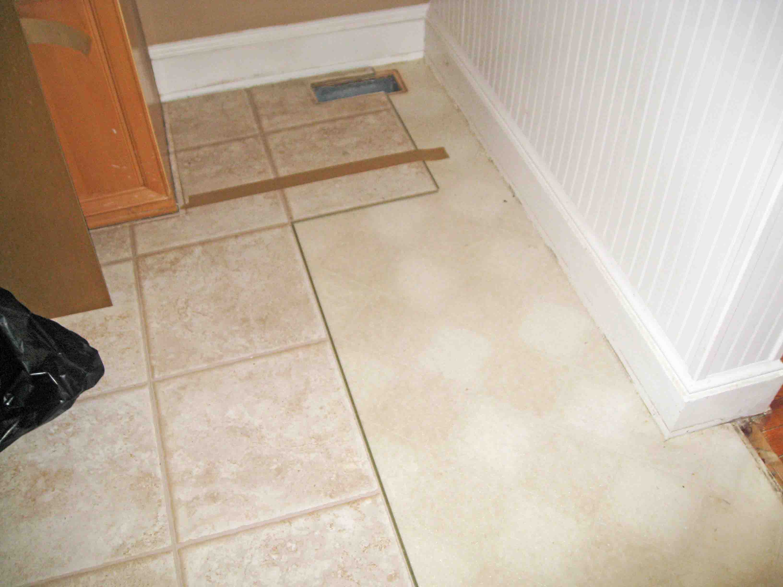 Layers of linoleum sunshineandsawdust for Linoleum flooring